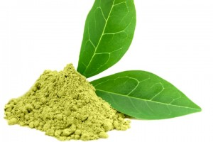 Green powder matcha tea