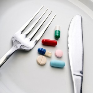 diet pills and fork