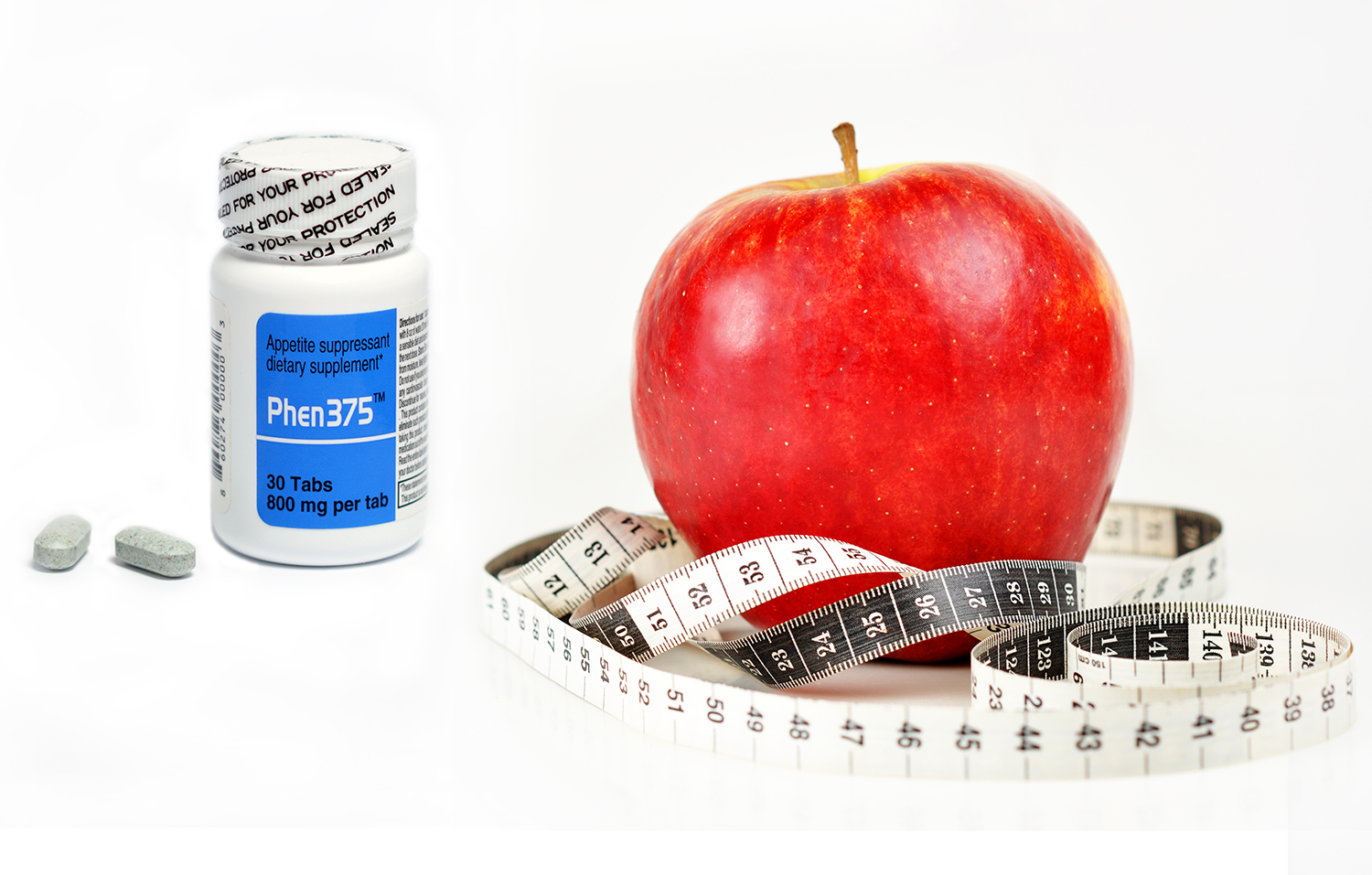weigh loss pill and apple